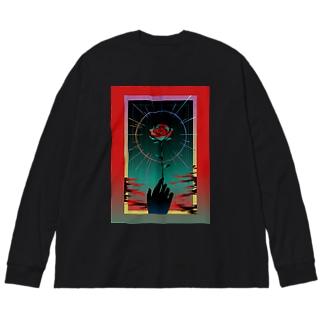 禍禍-MAGAMAGA- Big silhouette long sleeve T-shirts
