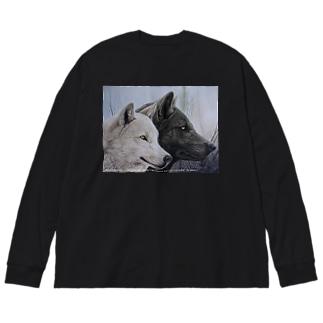 LIFE PARTNER Ⅱ Big silhouette long sleeve T-shirts