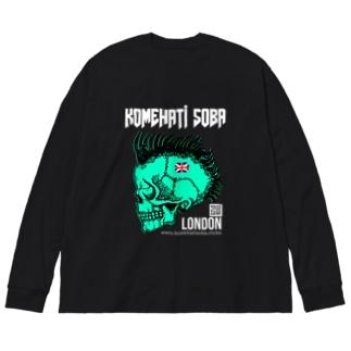 【米八そば】ロンドン支店【BSLT】 Big silhouette long sleeve T-shirts