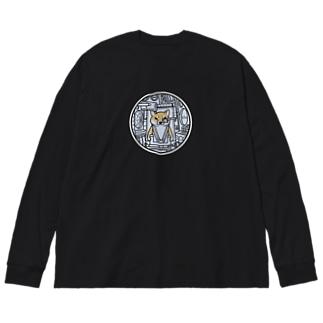 コックピット・柴犬(赤柴) Big silhouette long sleeve T-shirts