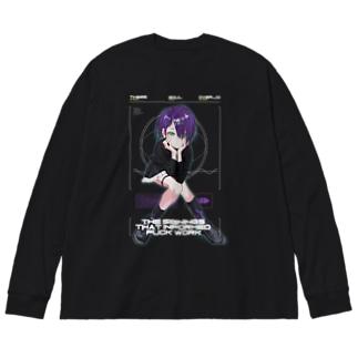 紫髮 Big silhouette long sleeve T-shirts