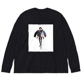 RUNWAY Big silhouette long sleeve T-shirts