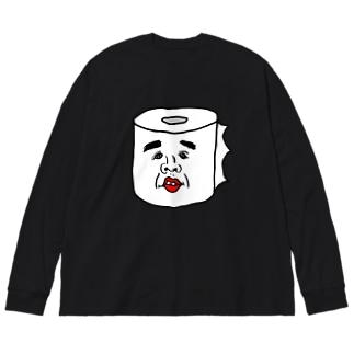 トイレットペーパーのまさみ  Big silhouette long sleeve T-shirts