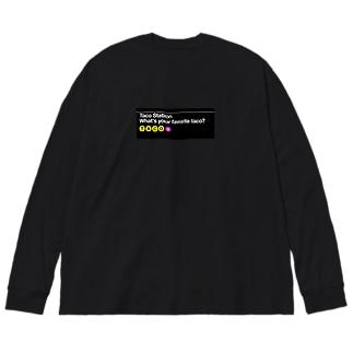Taco Station Big silhouette long sleeve T-shirts
