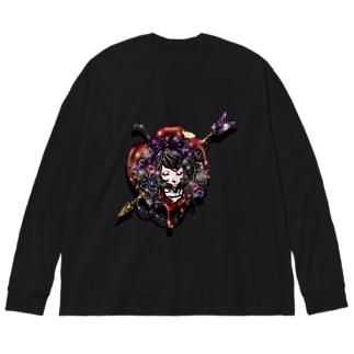 毒リンゴ姫 Big silhouette long sleeve T-shirts
