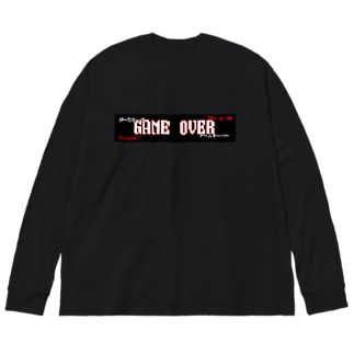 GAME OVER Big silhouette long sleeve T-shirts