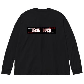 妖怪ちゃんのGAME OVER Big silhouette long sleeve T-shirts