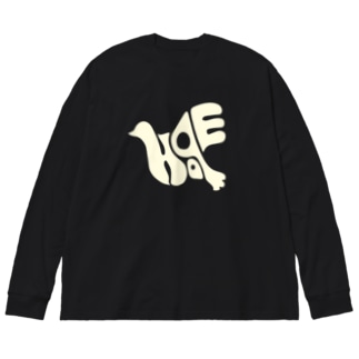 復刻版 hope  白 Big silhouette long sleeve T-shirts