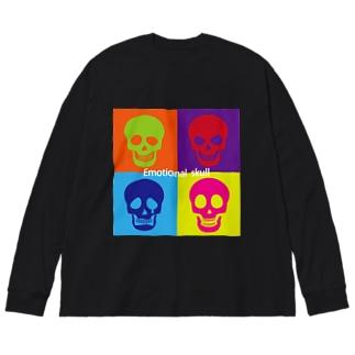 感情的なドクロ~Emotional  skull~ Big silhouette long sleeve T-shirts