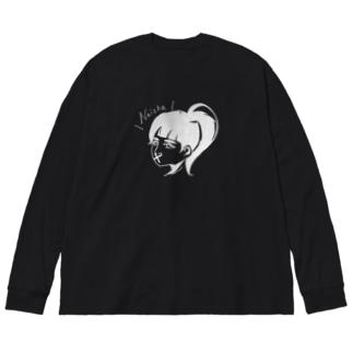 ナイショ(反転) Big silhouette long sleeve T-shirts