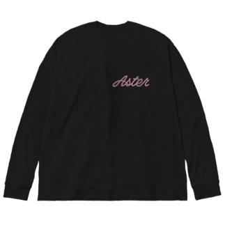 あすたー Big silhouette long sleeve T-shirts