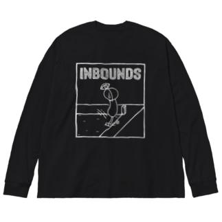 PBスティック君 inbounds Big silhouette long sleeve T-shirts