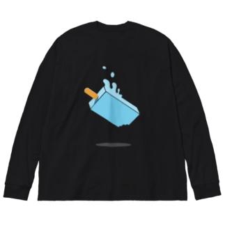 夏の終わり Big silhouette long sleeve T-shirts