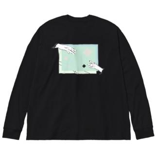 ツナガル Big silhouette long sleeve T-shirts