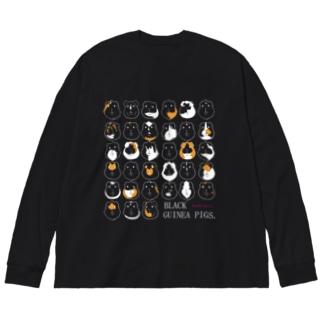 BLACK GUINEA PIGS.(モルモット) Big silhouette long sleeve T-shirts
