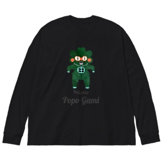 Popo Gami Inishie Big silhouette long sleeve T-shirts