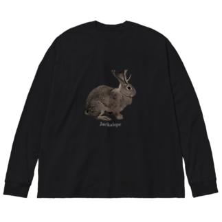 未確認動物 Big silhouette long sleeve T-shirts
