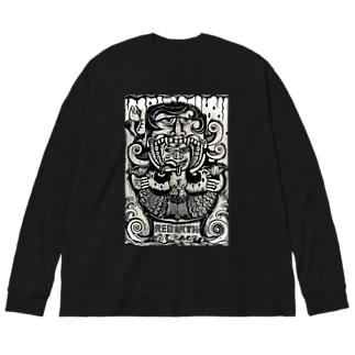 Rebirth Big silhouette long sleeve T-shirts