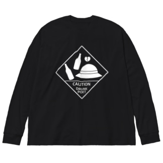 悲しみ文豪(白)シリーズ Big silhouette long sleeve T-shirts