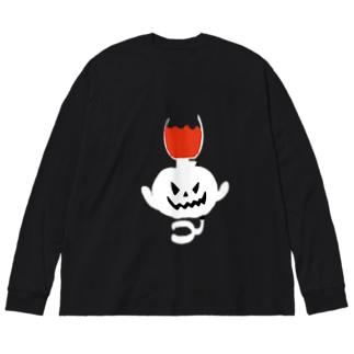 サイフォンゴースト Big silhouette long sleeve T-shirts