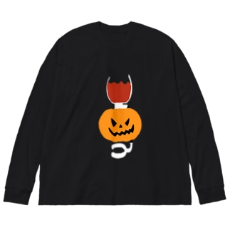 パンプキンサイフォン Big silhouette long sleeve T-shirts