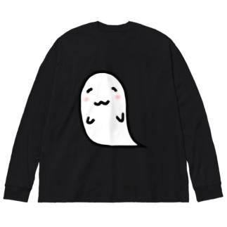 わたくしオバケ Big silhouette long sleeve T-shirts
