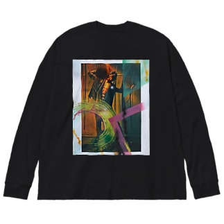 突破 Big silhouette long sleeve T-shirts