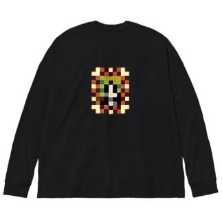 モザリナの肖像画 Big silhouette long sleeve T-shirts