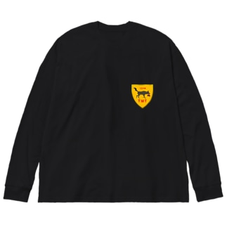 TEAM TMTエンブレム Big silhouette long sleeve T-shirts