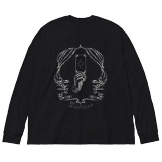 Fortune tarot Big silhouette long sleeve T-shirts