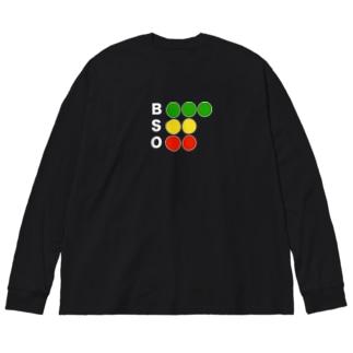 やきうめちゃすき Big silhouette long sleeve T-shirts