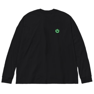 電源ボタン/ONOFFスイッチ Big silhouette long sleeve T-shirts