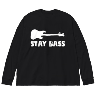 STAY BASS(ホワイト) Big silhouette long sleeve T-shirts