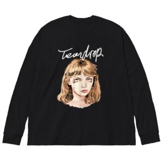 TearDrop Big silhouette long sleeve T-shirts