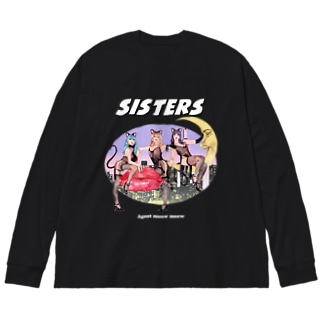 SISTERS Big silhouette long sleeve T-shirts