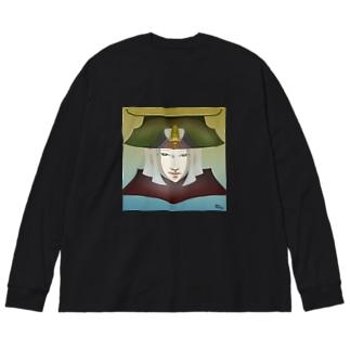 強さと美学の精神 Big silhouette long sleeve T-shirts