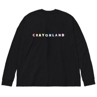 CRAYON LANDのロゴ Big silhouette long sleeve T-shirts