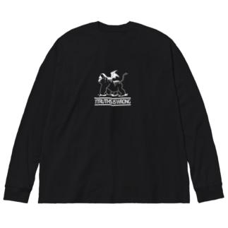 D.evil T Big silhouette long sleeve T-shirts