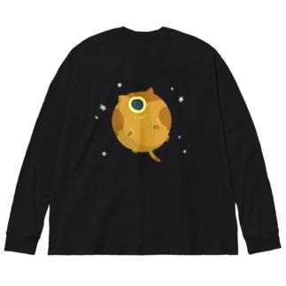 『天体ねこ』ヴィーナス Big silhouette long sleeve T-shirts
