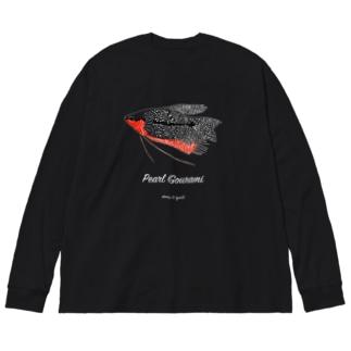 パールグラミーオス(発情中)濃い色用  Big silhouette long sleeve T-shirts