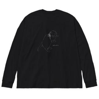 くつろぎのビオラ Big silhouette long sleeve T-shirts