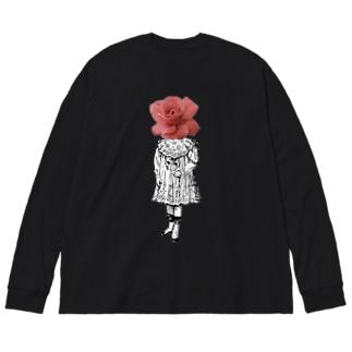 キネオラマの人は死んだら電柱になる Big silhouette long sleeve T-shirts