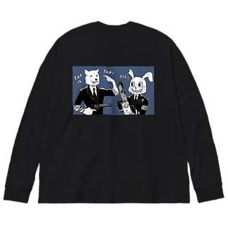 キラーバニー&レザボアドッグ Big silhouette long sleeve T-shirts
