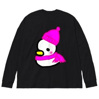 冬のトリさん ちょっと大きめの長袖シャツ Big silhouette long sleeve T-shirts