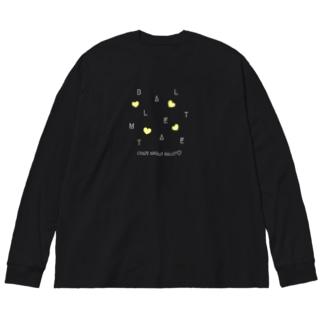 【白文字】CRAZY-BM2020 Big silhouette long sleeve T-shirts