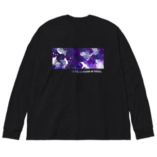 「ひそやかな眠り」 Big silhouette long sleeve T-shirts
