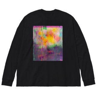 psychedelic dimension Big silhouette long sleeve T-shirts