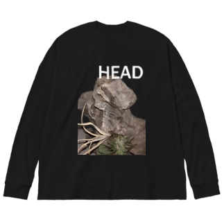 HEAD <FONT COLOR : WHITE> Big silhouette long sleeve T-shirts