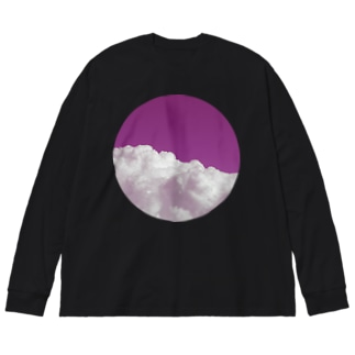 ひと粒の空 Big silhouette long sleeve T-shirts