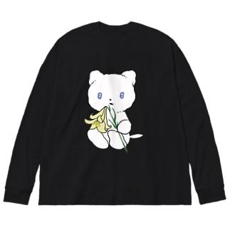 リリィちゃん Big silhouette long sleeve T-shirts